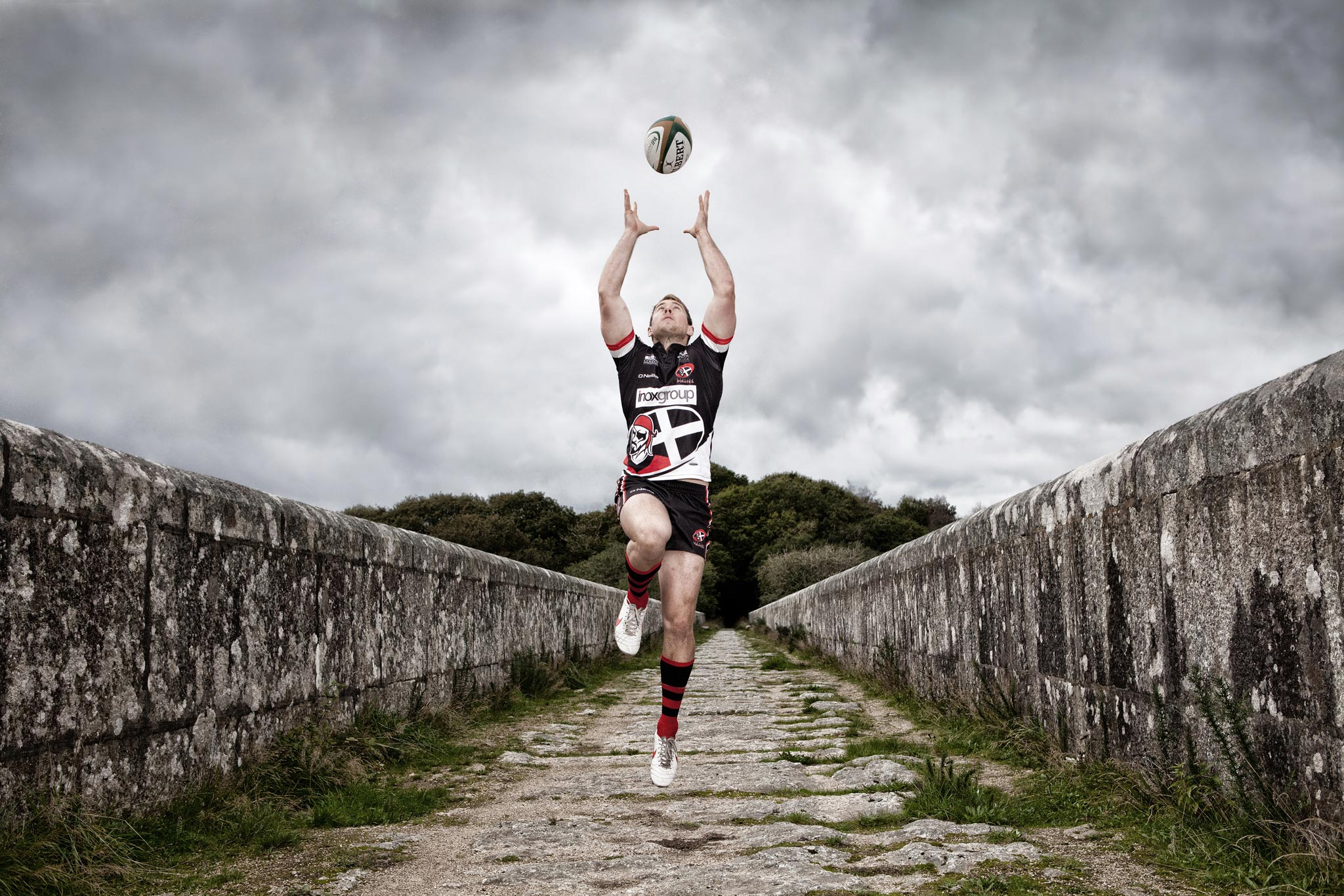 Cornish Pirates Rugby Team Cornwall Editorial PR Photography