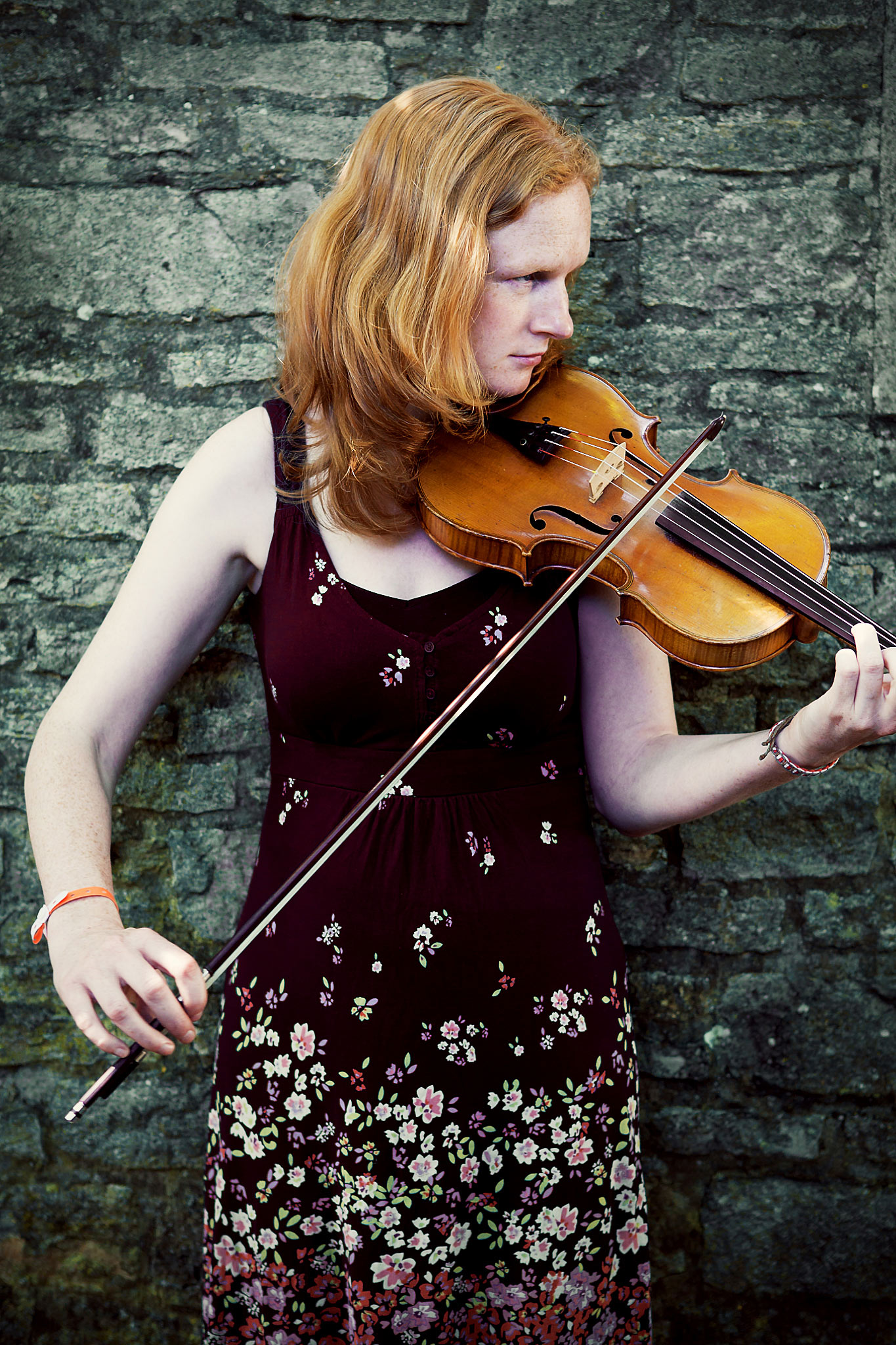 Fiddle player photography Cornwall