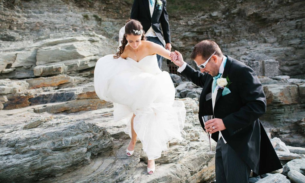 Hugh and Vicky – St Agnes Wedding Photographer