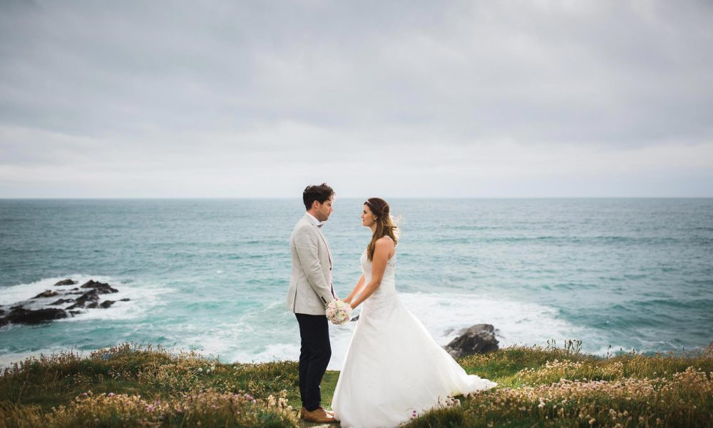 Emmeline and Scott – Headland Hotel Wedding Photographer