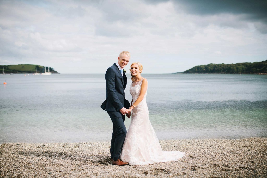 Trebah Beach Wedding Photograph