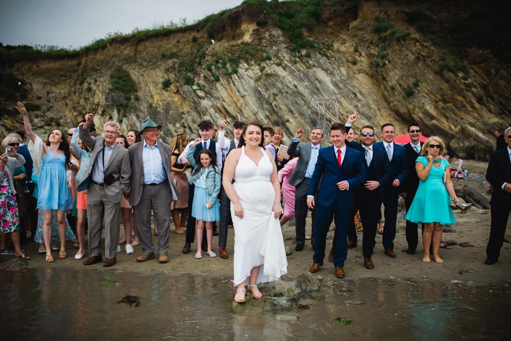 Wedding Porthcurnick Beach