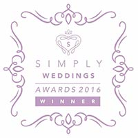 Simply Weddings Award Winner 2016