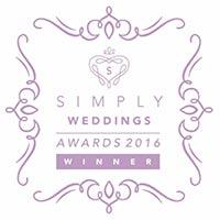 Simply Weddings Award Winner 2016