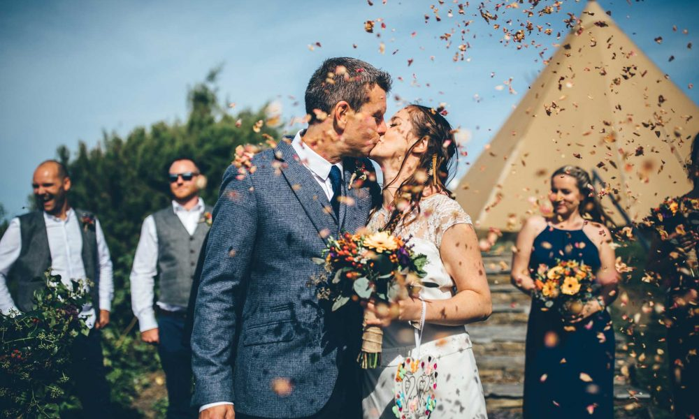 Leah and Ian – Treyarnon Bay Festival Wedding