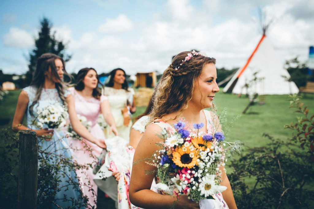 Cornish Tipi Wedding Photographer 31