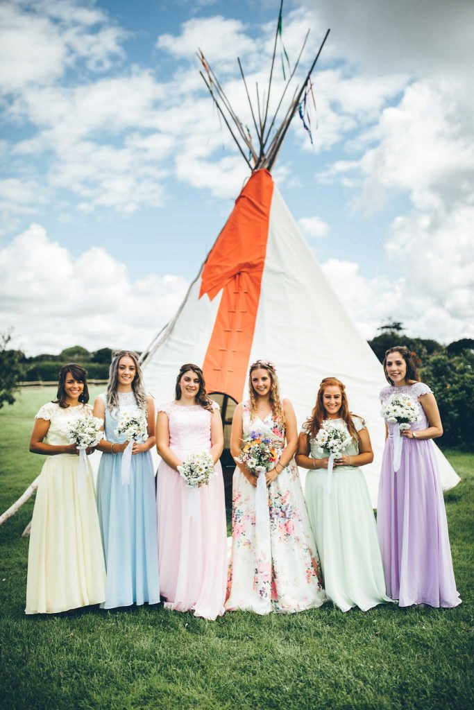 Cornish Tipi Wedding Photographer 29