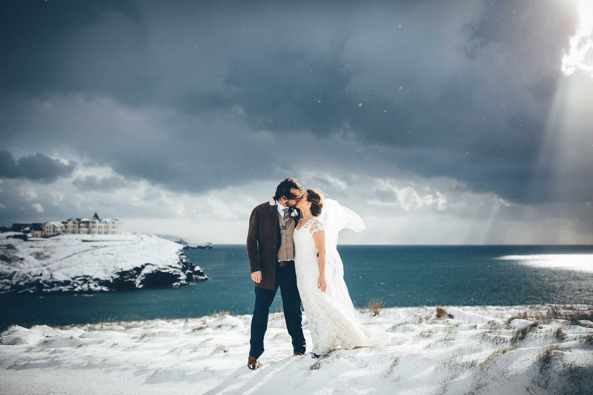 The snow wedding