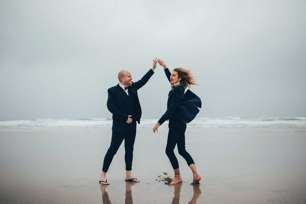 Same sex wedding photographer cornwall