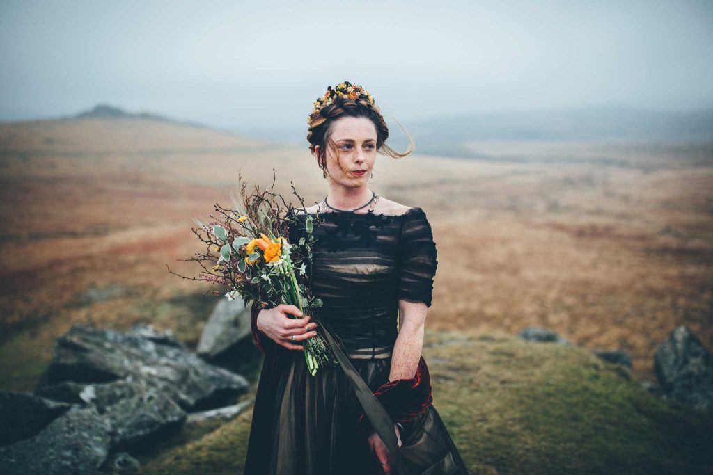 Dartmoor Wedding Wuthering Heights Shoot 3