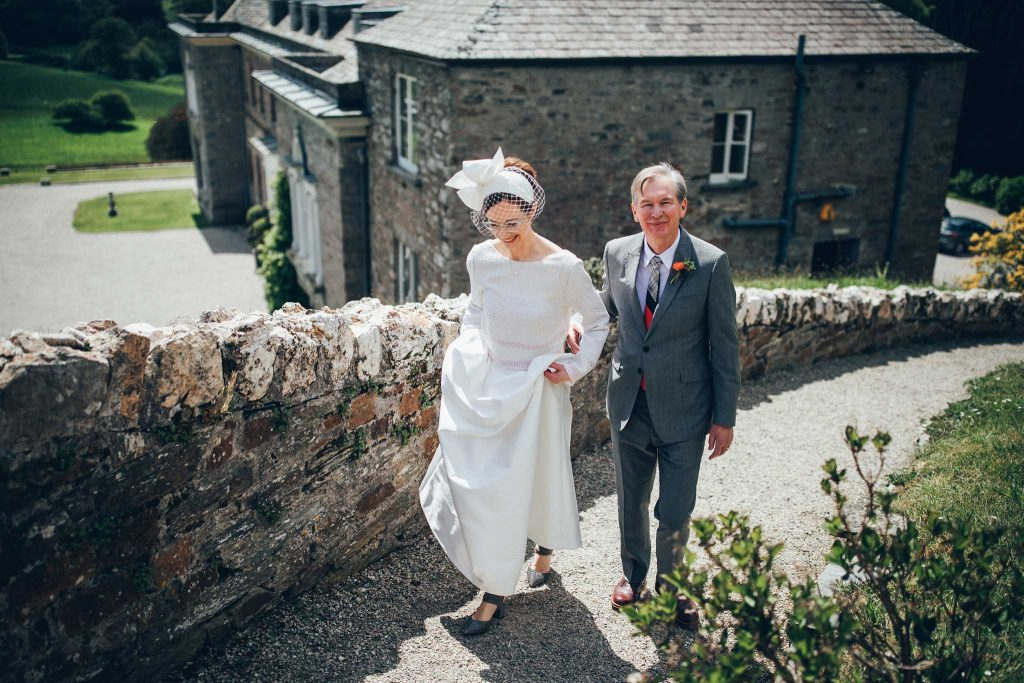 Boconnoc House walking to ceremony