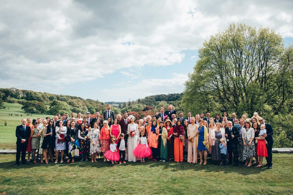 Boconnoc House wedding guests