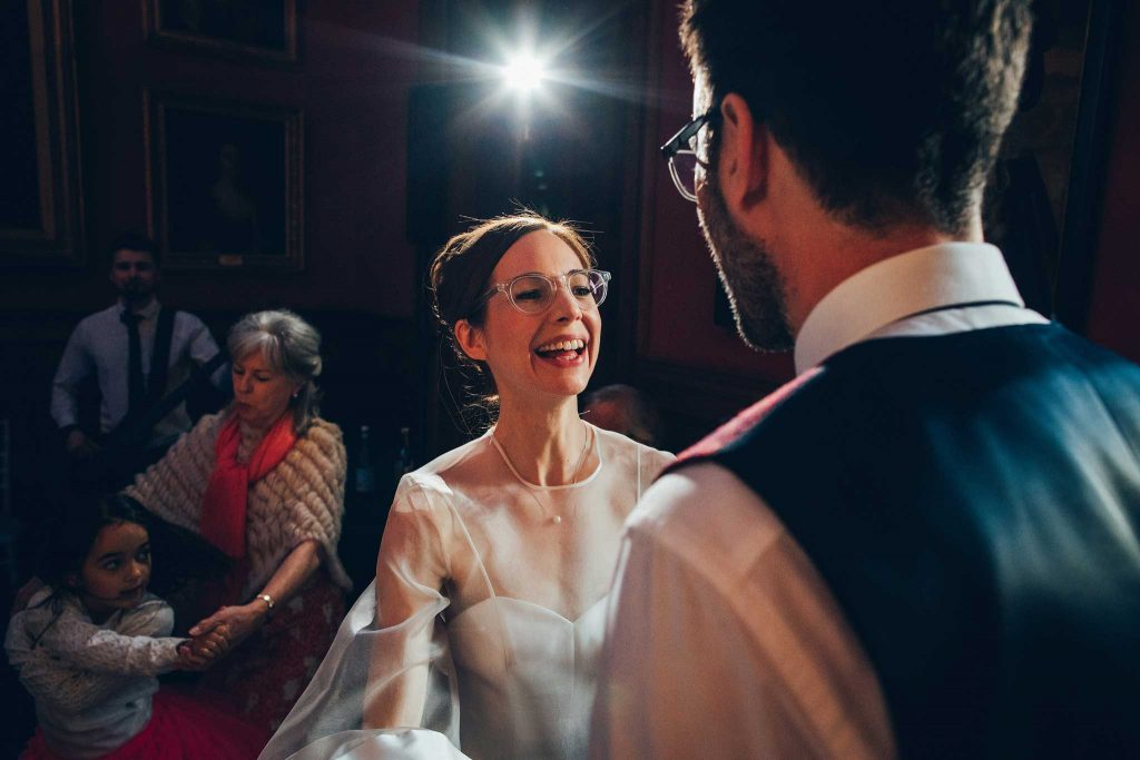 Boconnoc House dancing bride