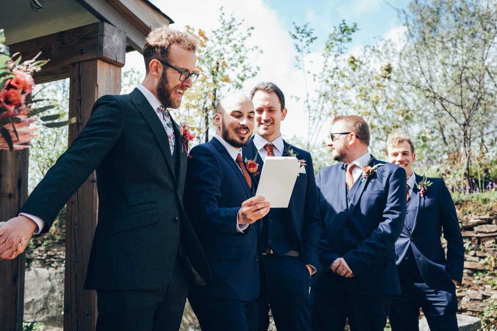 Groomsmen singing