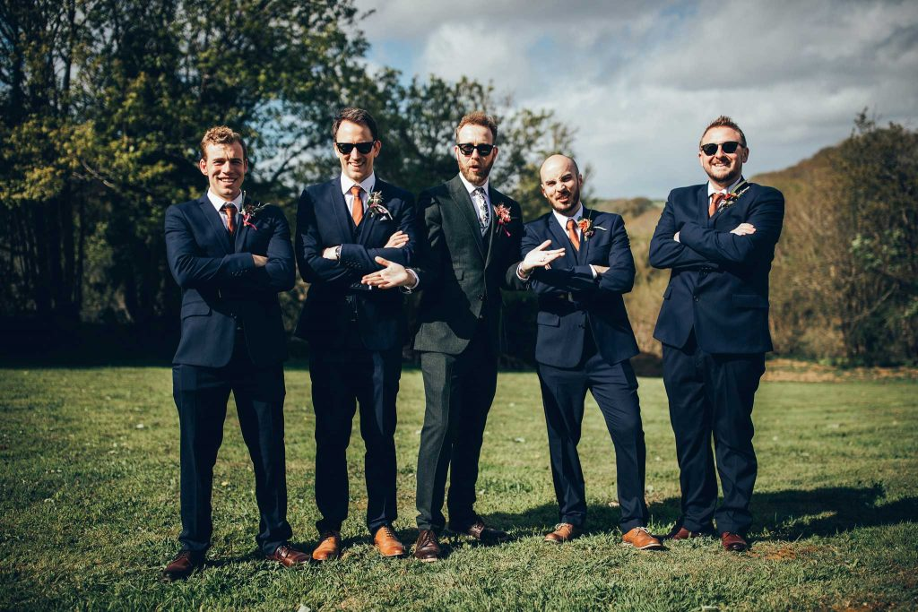 Groom and Groomsmen at Kilminorth Cottages