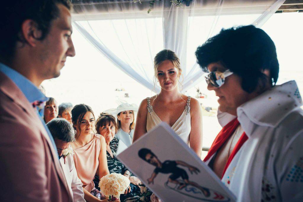 Wedding ceremony at Carbis Bay Hotel