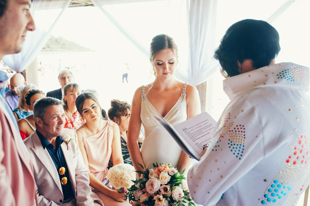 Wedding ceremony at Carbis Bay Hotel