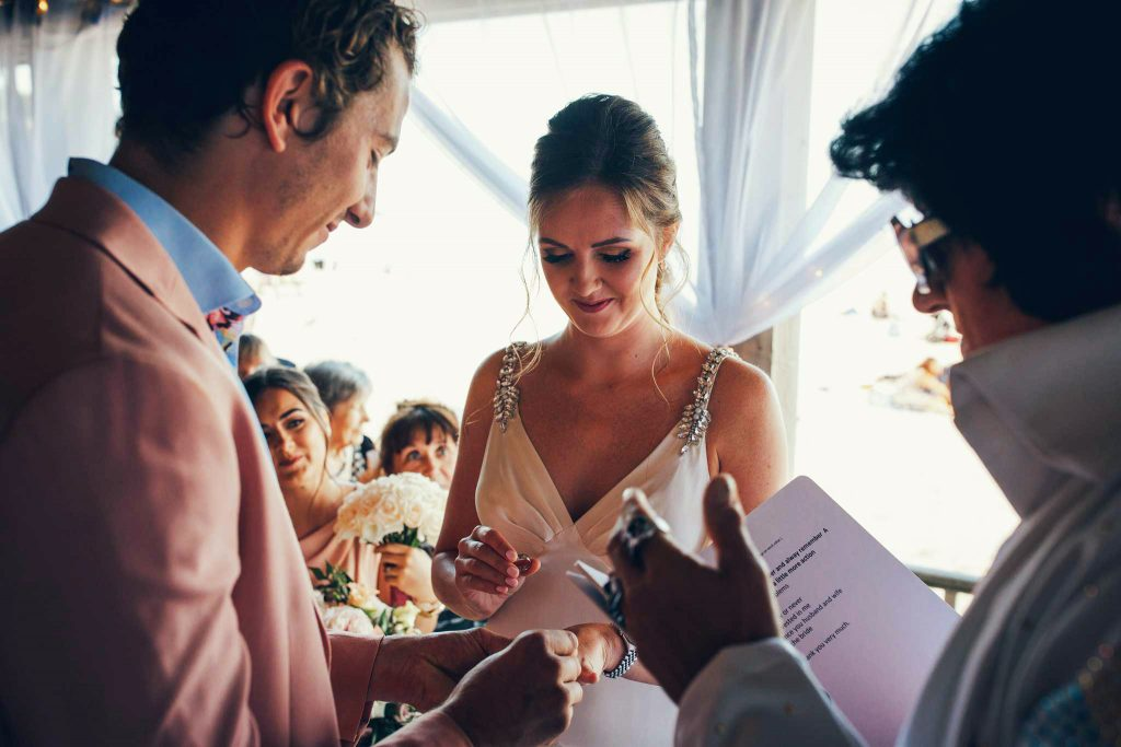 Ring exchange at Carbis Bay Hotel