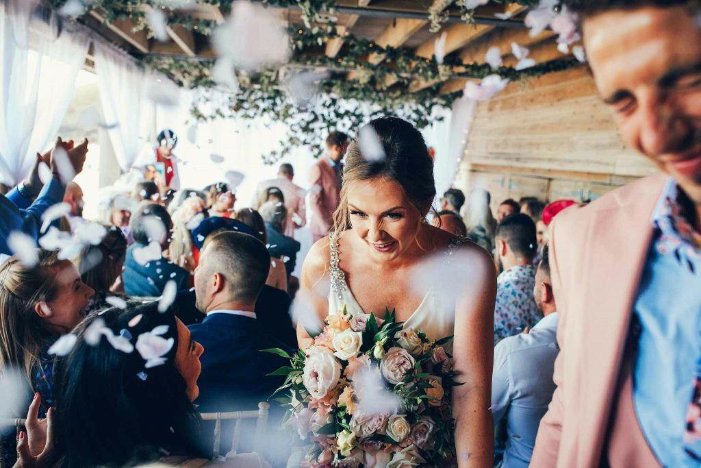 confetti at Carbis Bay Hotel