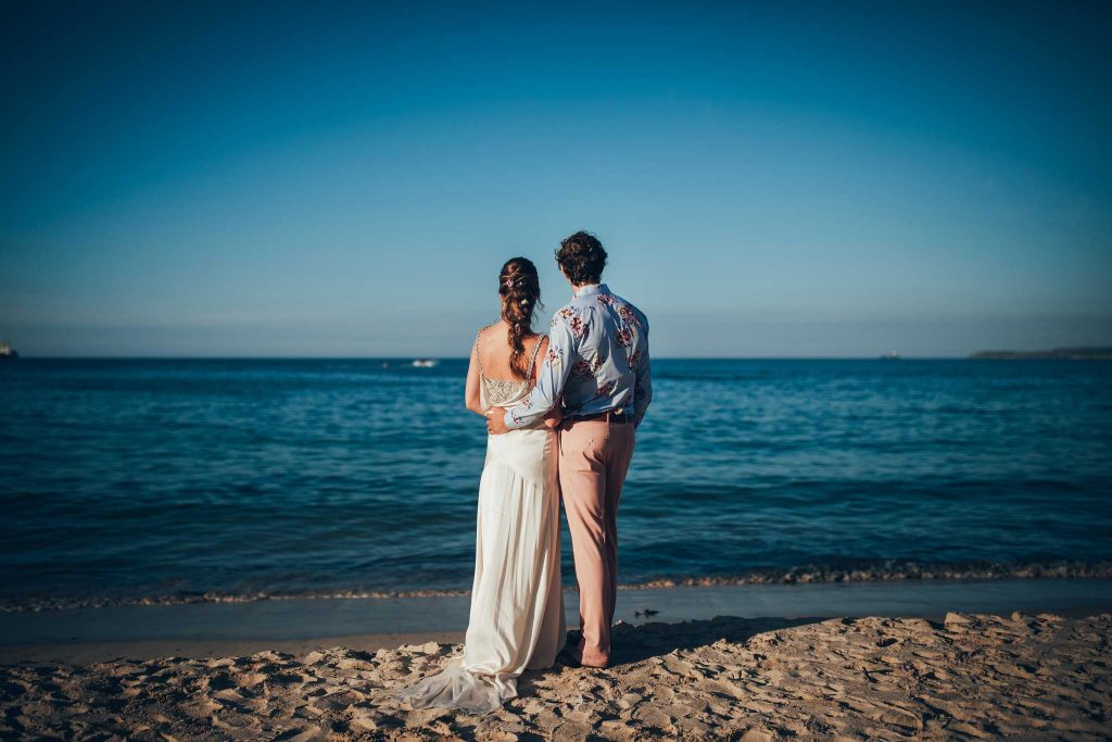 Bride and Groom at Carbis Bay Hotel