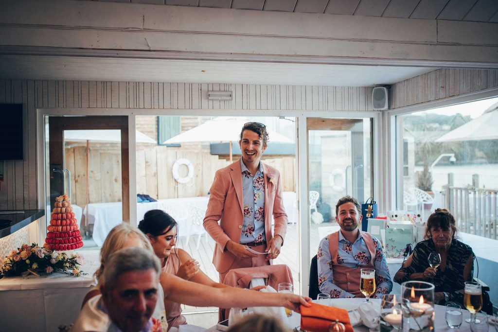 Speeches at Carbis Bay Hotel wedding