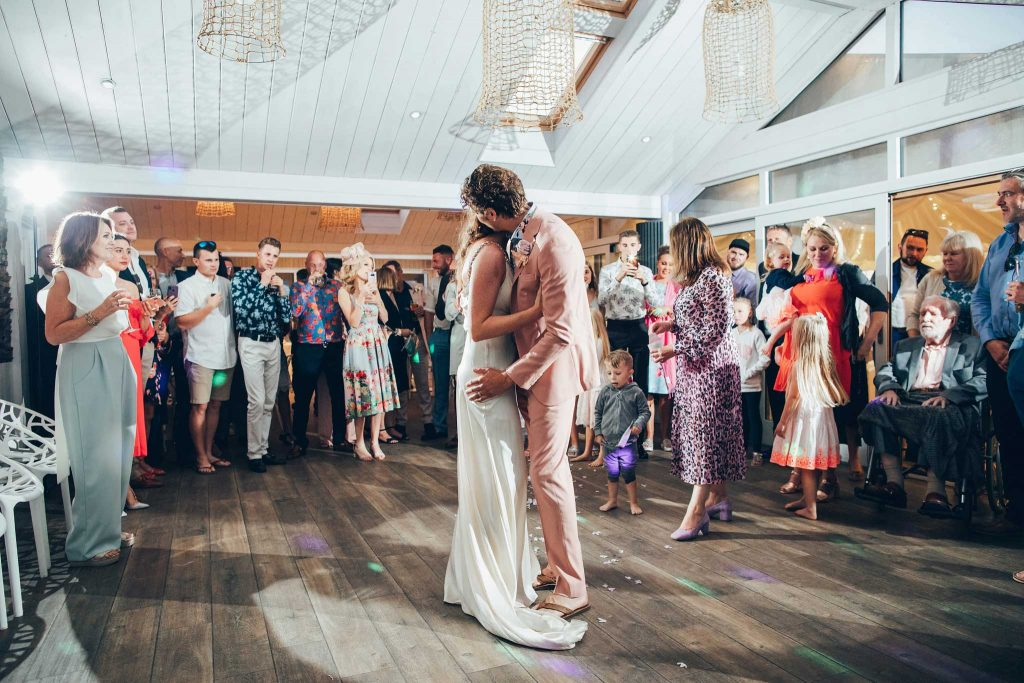 First dance at Carbis Bay Hotel wedding