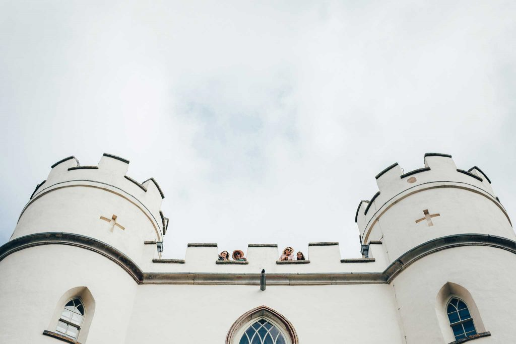 Lawrence Castle wedding rooftop