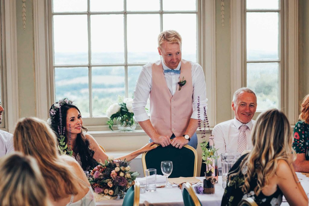 Haldon Belvedere wedding speeches