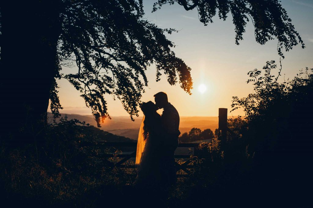 Haldon Belvedere wedding sunset