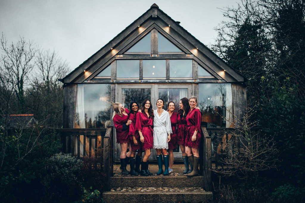 Bridal Party at the chicken shed