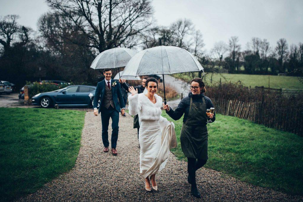 Bride and Groom arrival at Nancarrow Farm