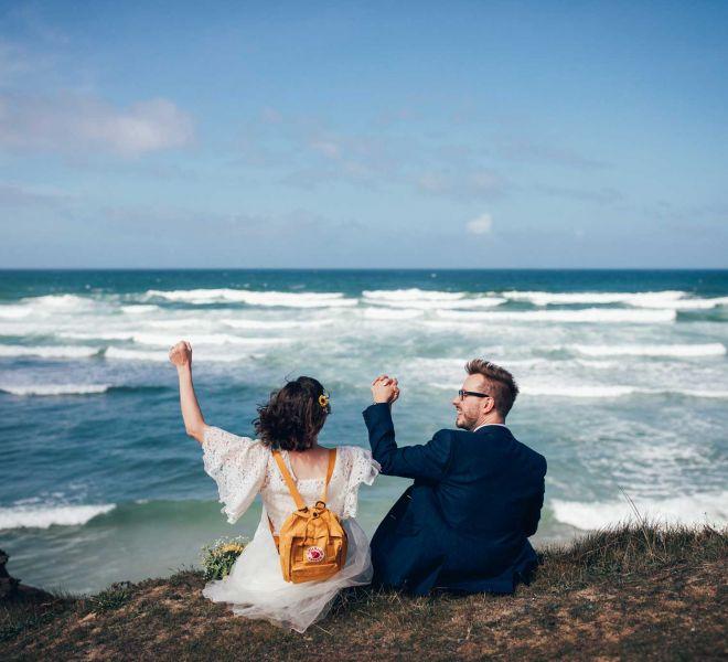 Cornwall intimate elopement wedding